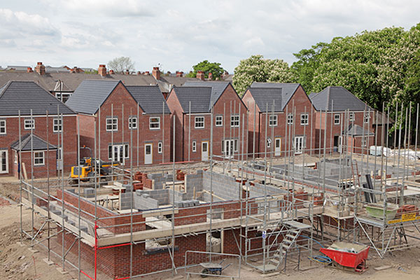 Housing building site