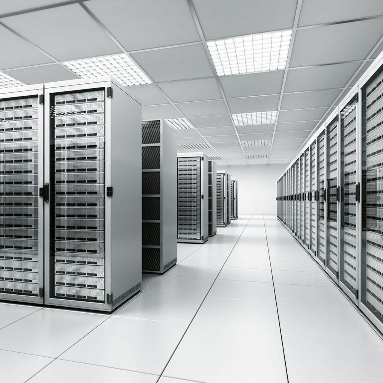 Silver server room