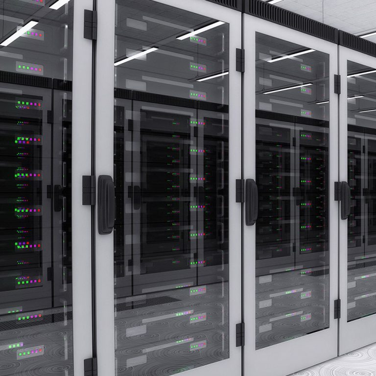4 servers in server room