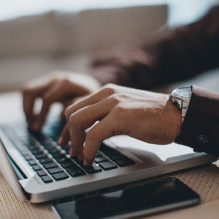 Worker on laptop