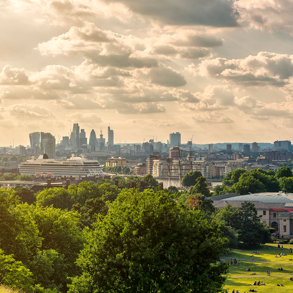 London skyline from a distance
